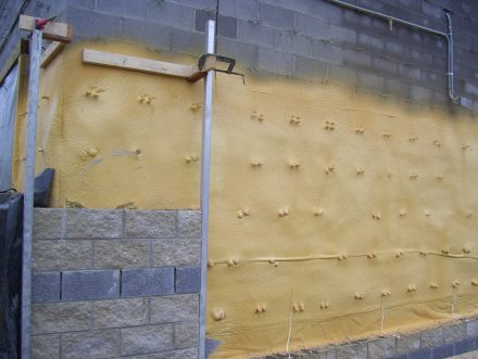 polyurethane foam air barrier
